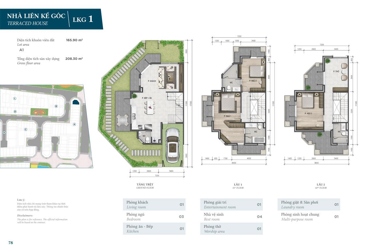 Thiết kế căn hộ Liên Kế  Góc dự án Verosa Park Khang Điền