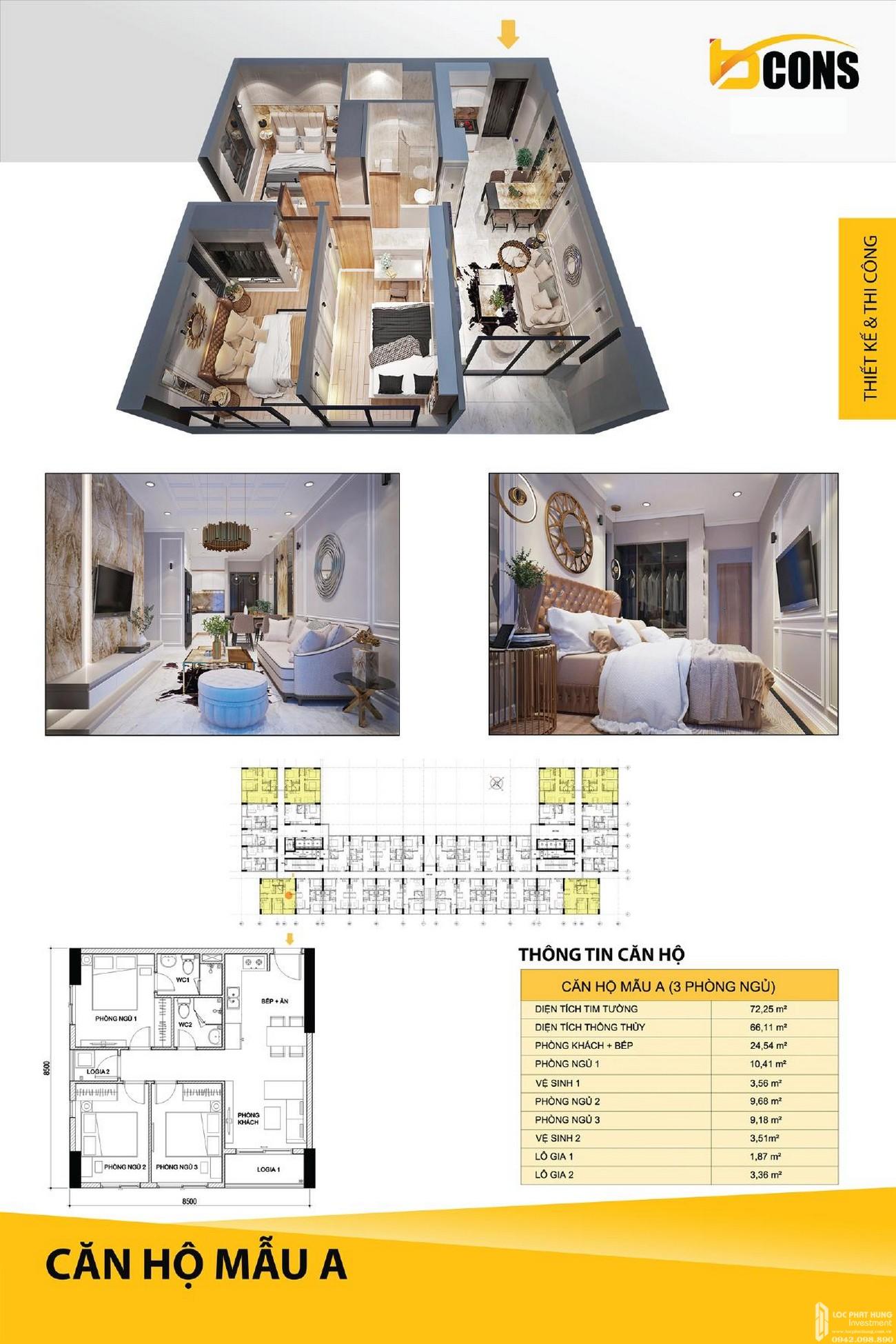 Thiết kế dự án Căn Hộ chung cư Bcons Miền Đông loại A Dĩ An Đường Tân Lập chủ đầu tư Bcons