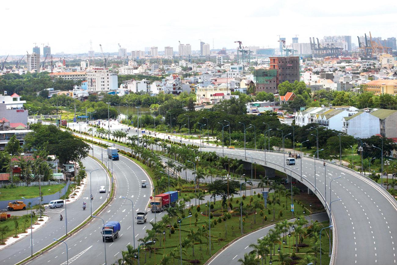 Hạ tầng khu vực Nam Sài Gòn ngày càng nâng cao