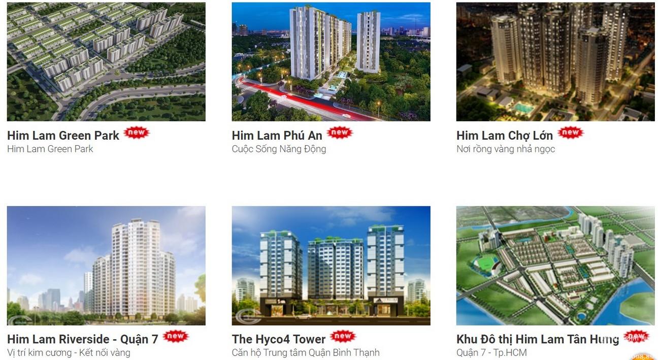 Dự án chủ đầu tư Him Lam Group đã và đang triển khai