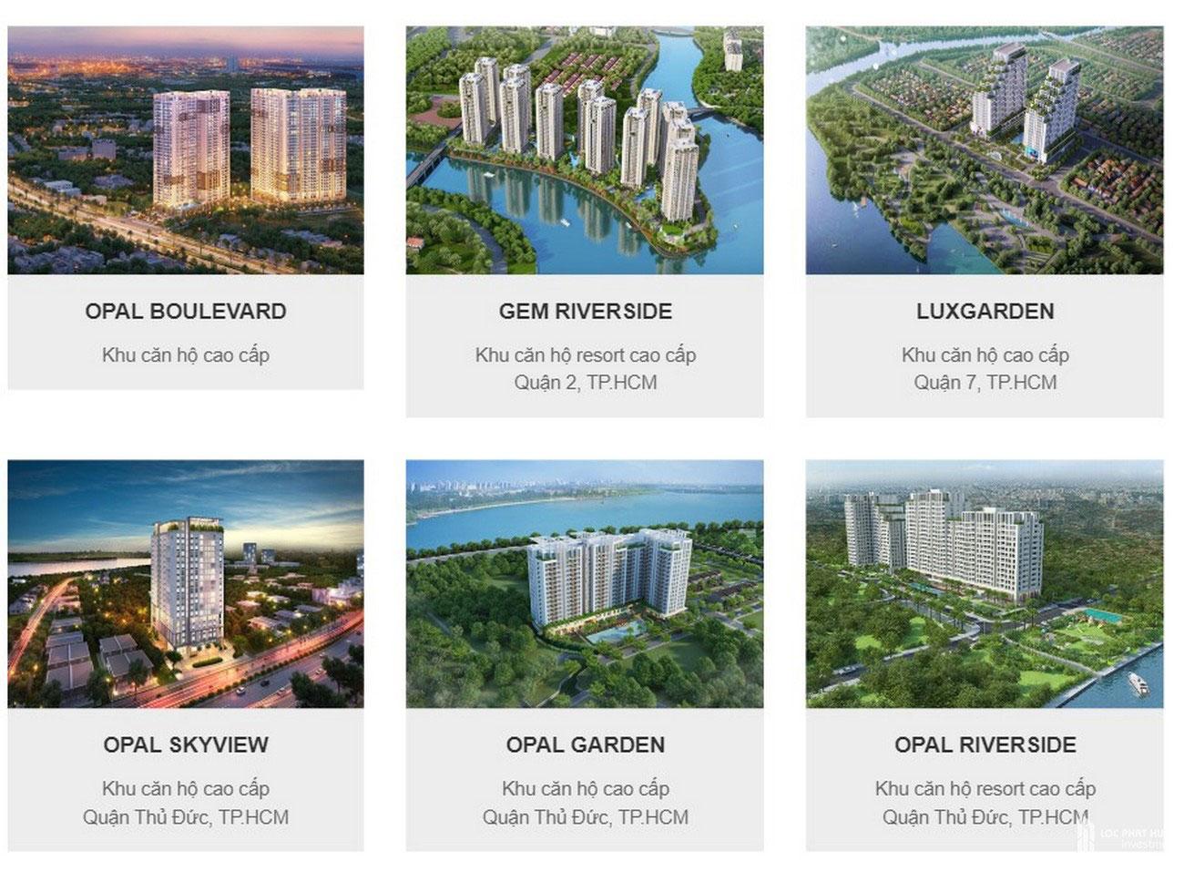 Những dự án mà chủ đầu tư Đất Xanh Group đã triển khai