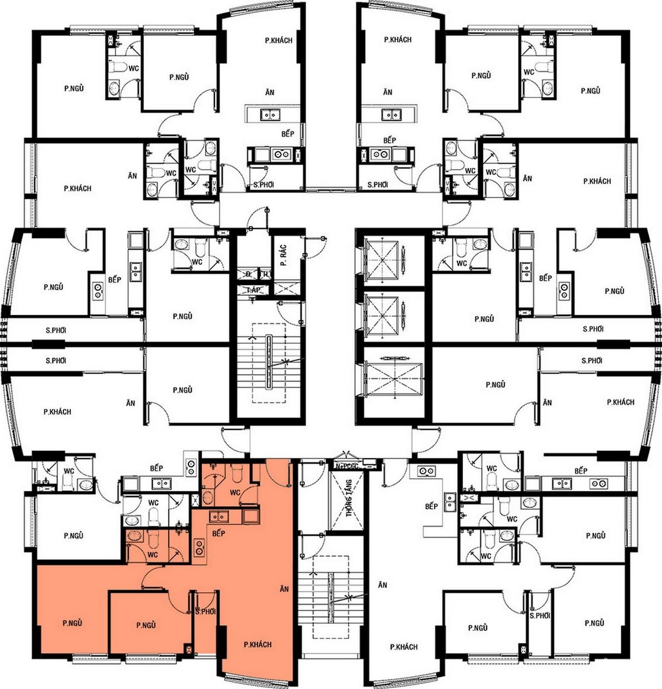 Mặt bằng dự án căn hộ chung cư Summer Square Quận 6 Đường Tân Hòa Đông chủ đầu tư Gotec Land