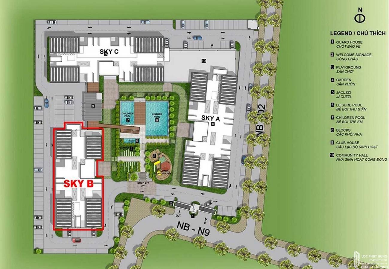 Mặt bằng dự án Căn Hộ chung cư Eco Xuân Sky Residences Lái Thiêu Đường Quốc Lộ 13 chủ đầu tư SP Setia Malaysia