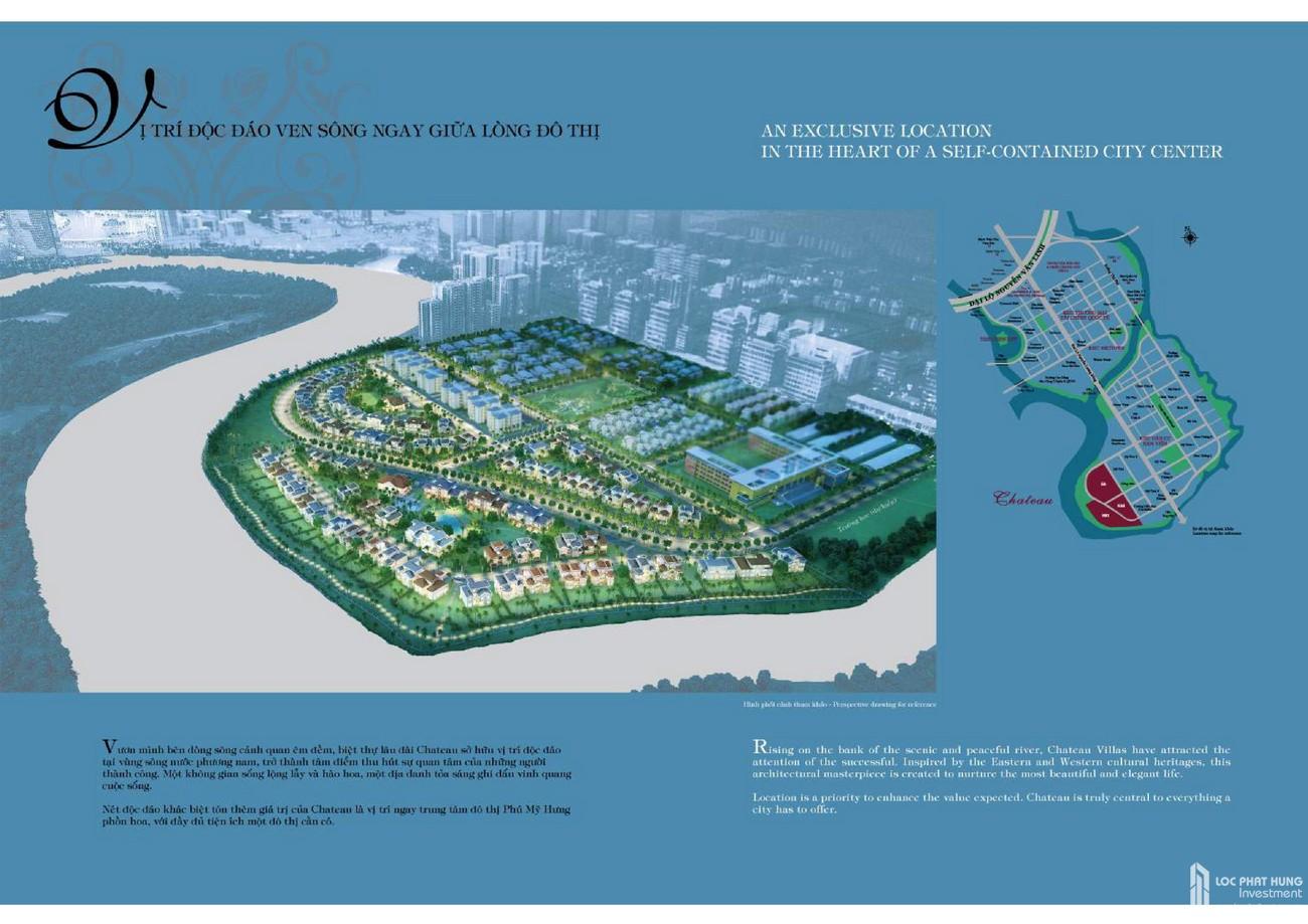 Mặt bằng dự án biệt thự Chateau Quận 7 Đường Nguyễn Lương Bằng chủ đầu tư Phú Mỹ Hưng