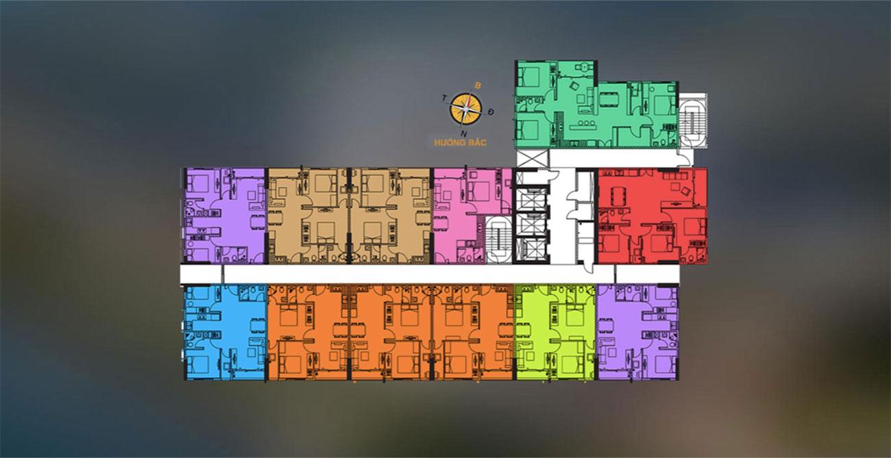 Mặt bằng điển hình căn hộ tại D Vela