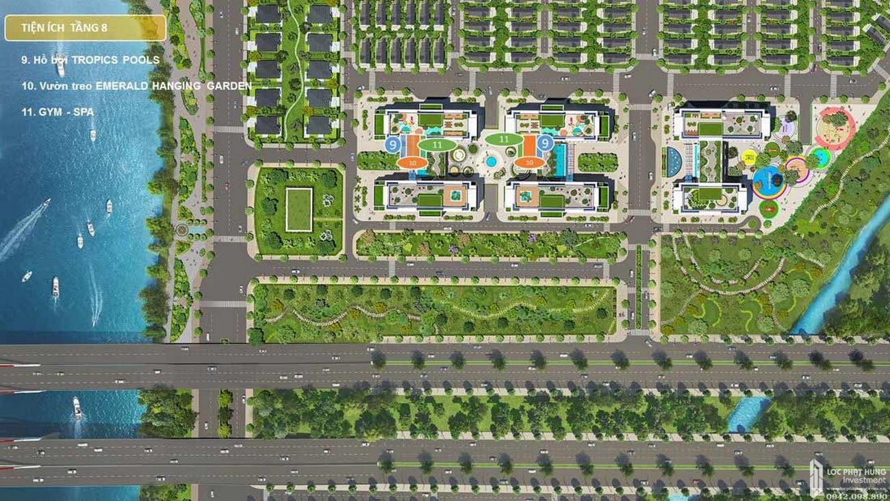Mặt bằng tổng thể dự án căn hộ Dream Home Riverside quận 8
