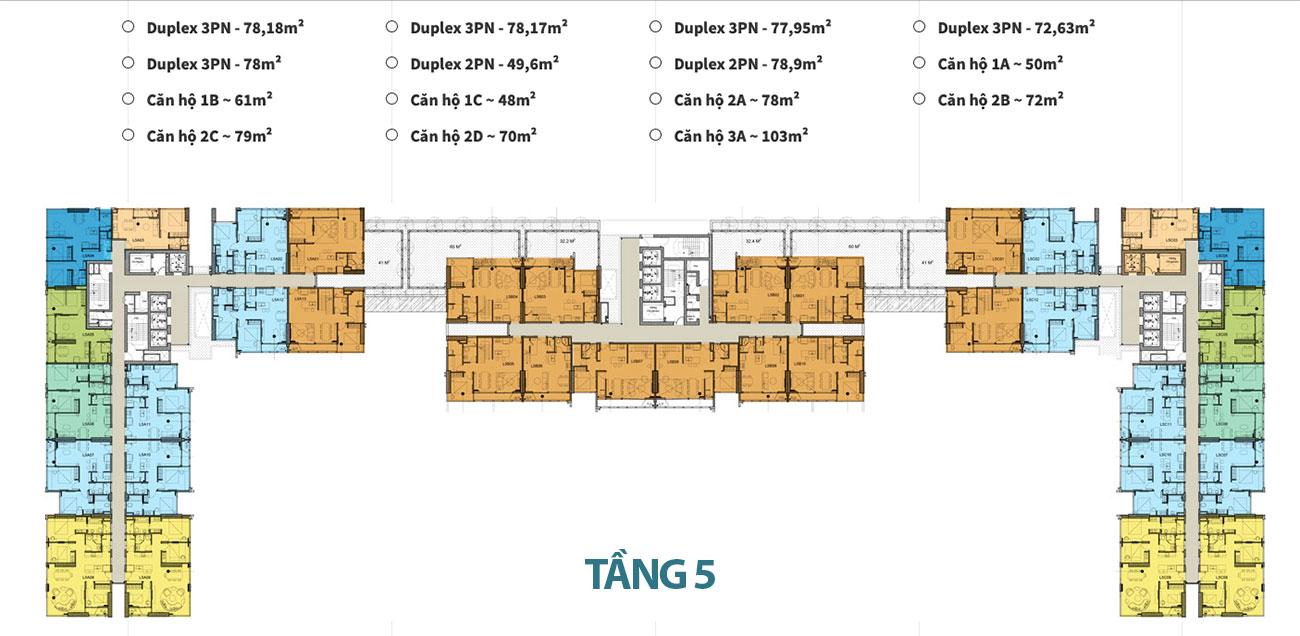 Mặt bằng tầng dự án căn hộ Kingdom 101 Quận 10