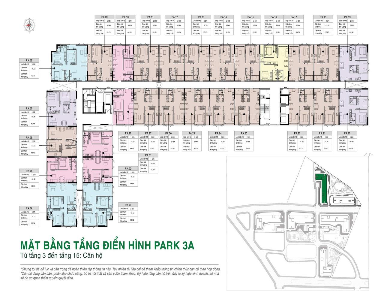 Mặt bằng tổng thể Park dự án căn hộ Picity High Park Quận 12