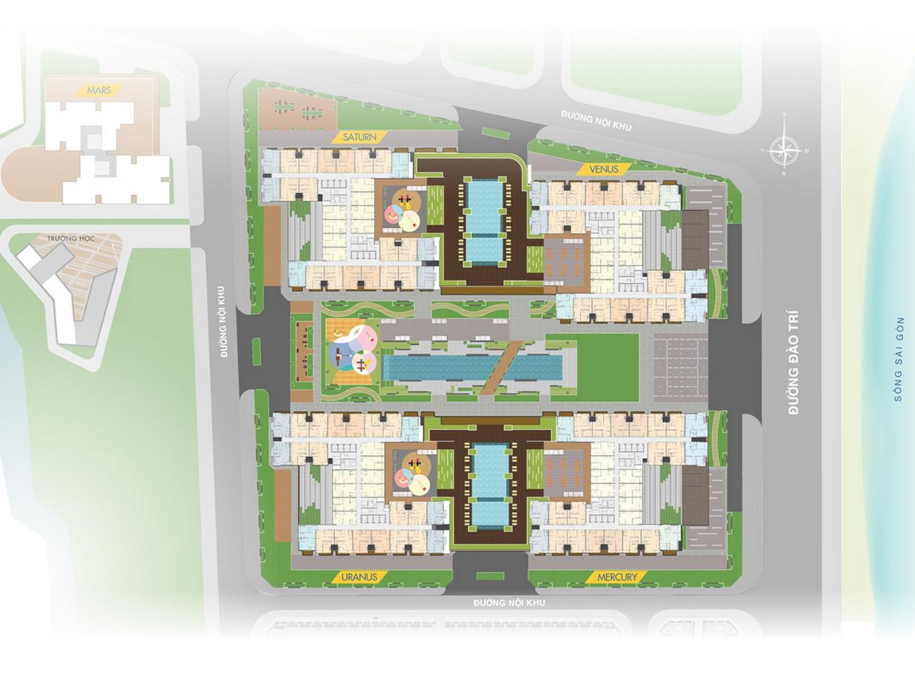 Mặt bằng dự án căn hộ Q7 Sai Gon Riverside Complex