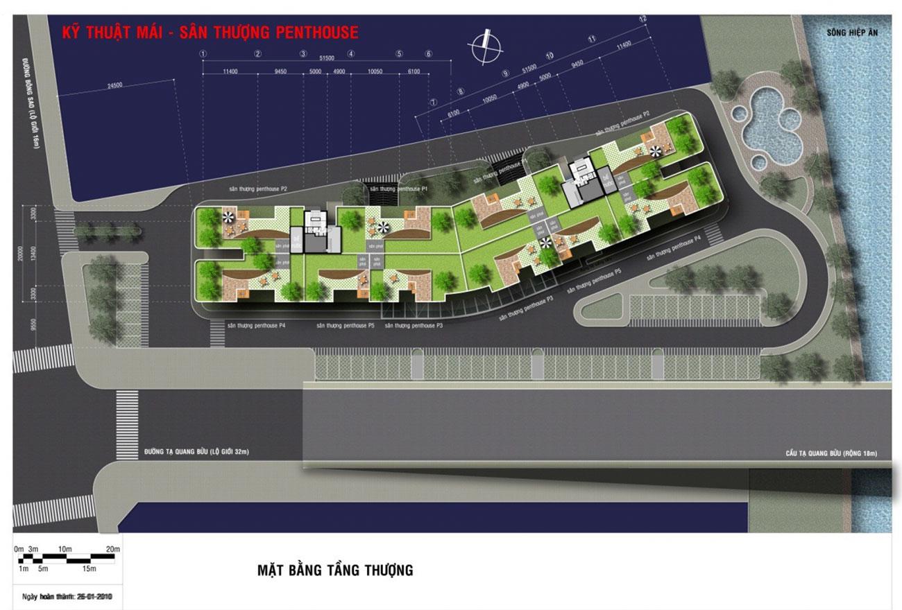 Mặt bằng dự án căn hộ Royal Park Riverside Quận 8