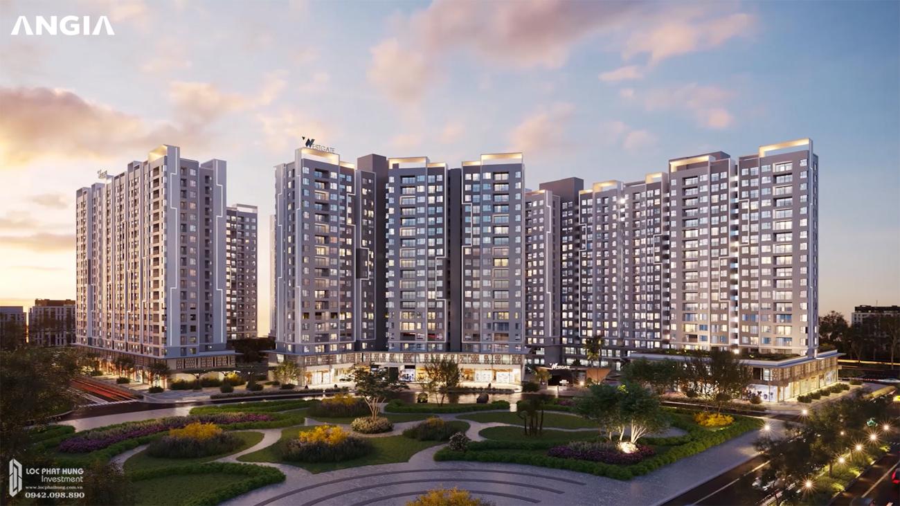 Phối cảnh tổng thể dự án căn hộ West Gate đường Tân Túc Bình Chánh
