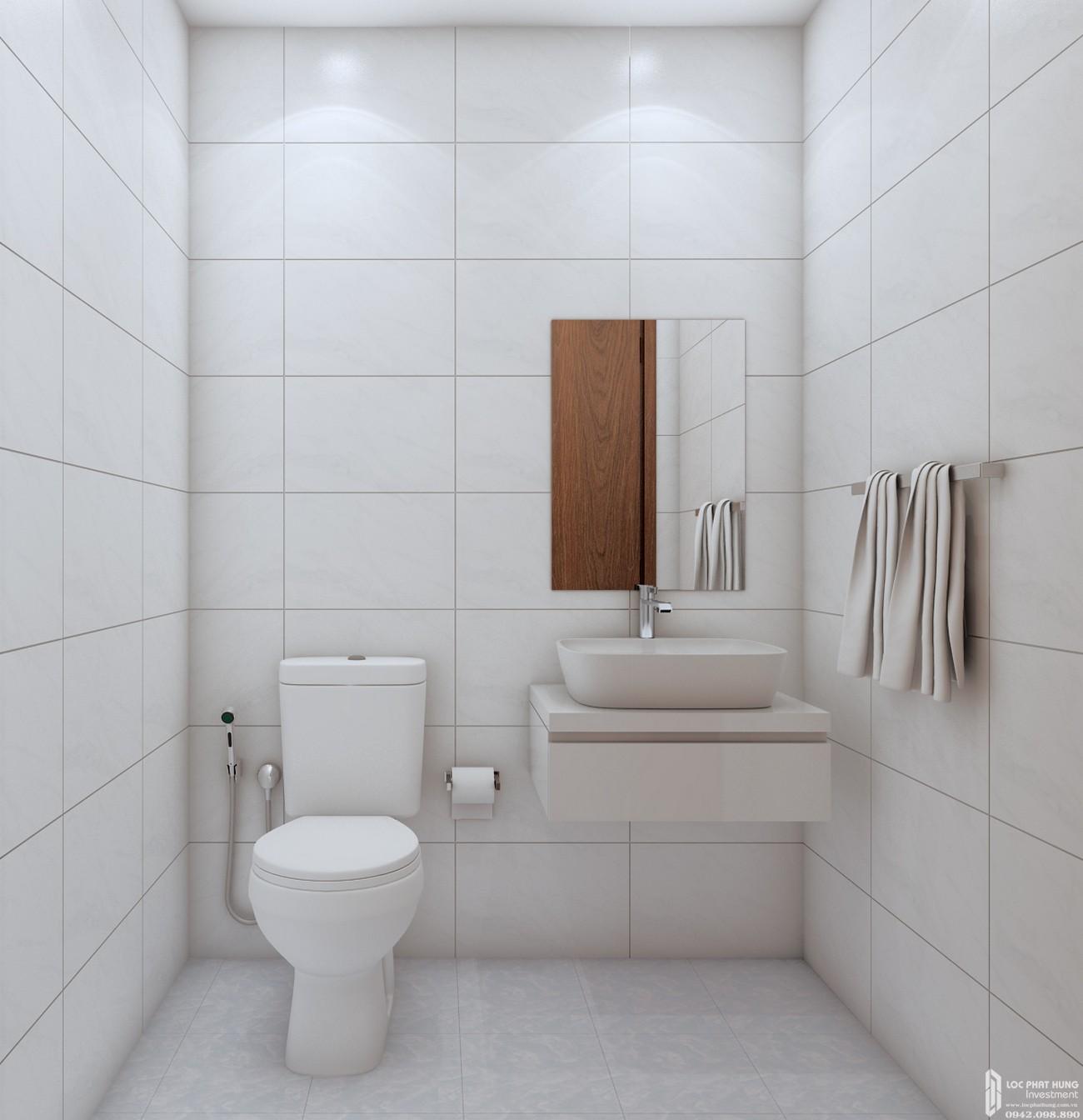 Toilet căn hộ chung cư Bcons Suối Tiên loại A Dĩ An Đường Tân Lập chủ đầu tư Bcons
