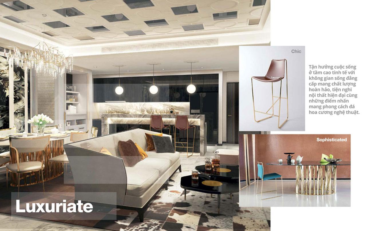 Nhà mẫu phòng khách dự án căn hộ chung cư Empire City Quận 2. Liên hệ 0973.098.890 để đăng ký xem nhà mẫu
