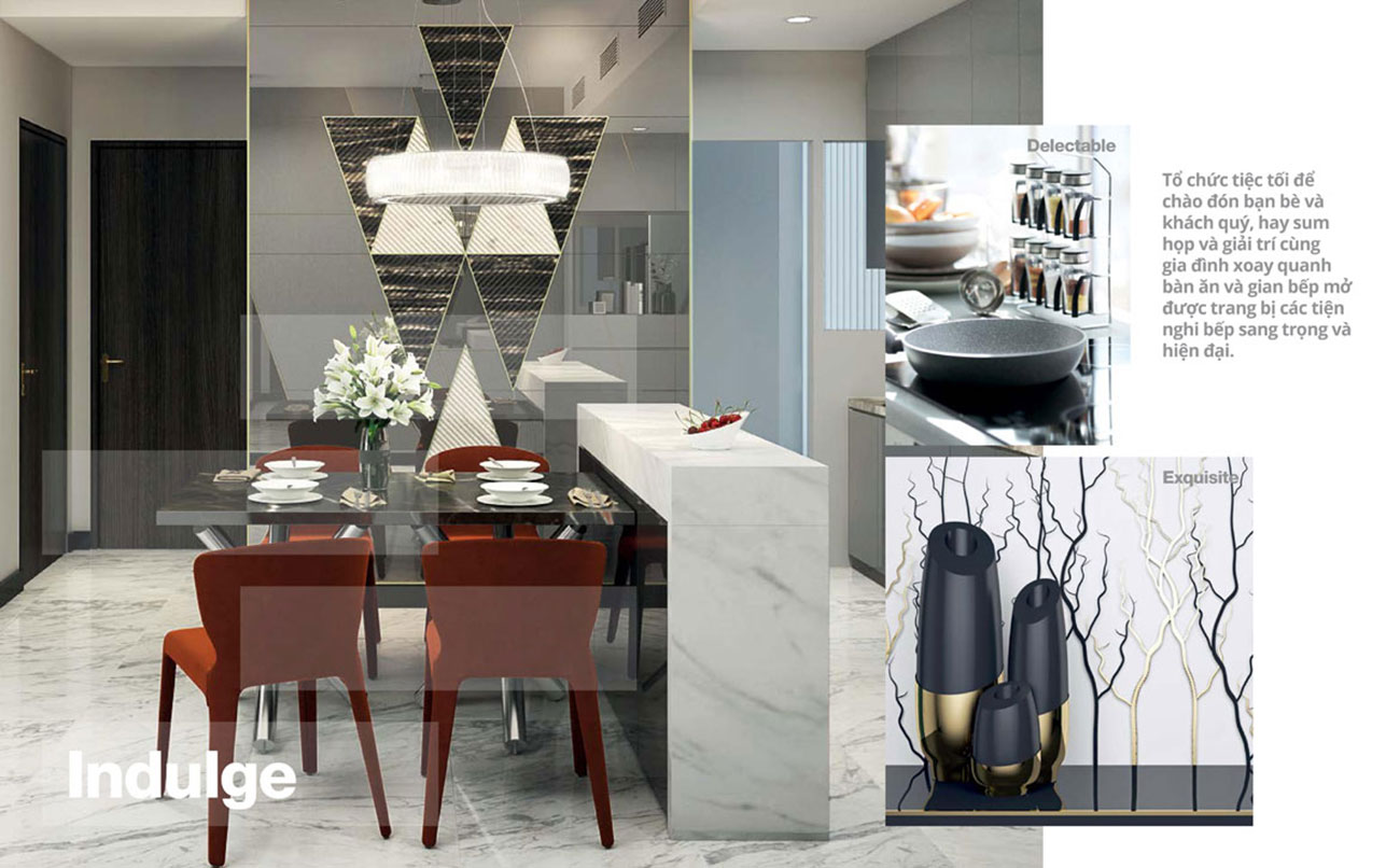 Nhà mẫu nhà bếp dự án căn hộ chung cư Empire City Quận 2. Liên hệ 0973.098.890 để đăng ký xem nhà mẫu