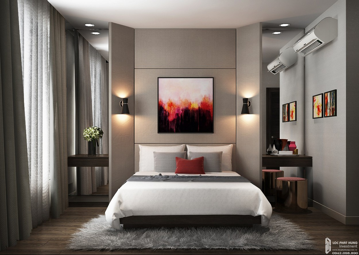 Nhà mẫu dự án căn hộ C 2 phòng ngủ Hado Centrosa Garden