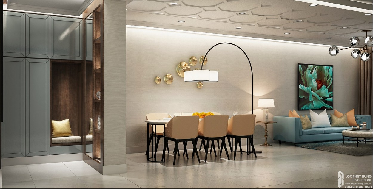 Nhà mẫu dự án căn hộ B 2 phòng ngủ Hado Centrosa Garden