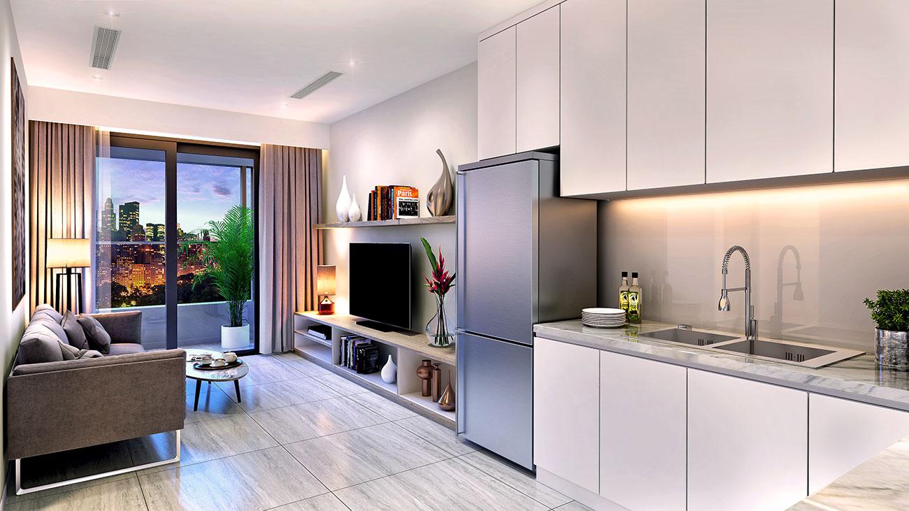 Nhà mẫu dự án căn hộ Kingdom101 Quận 10
