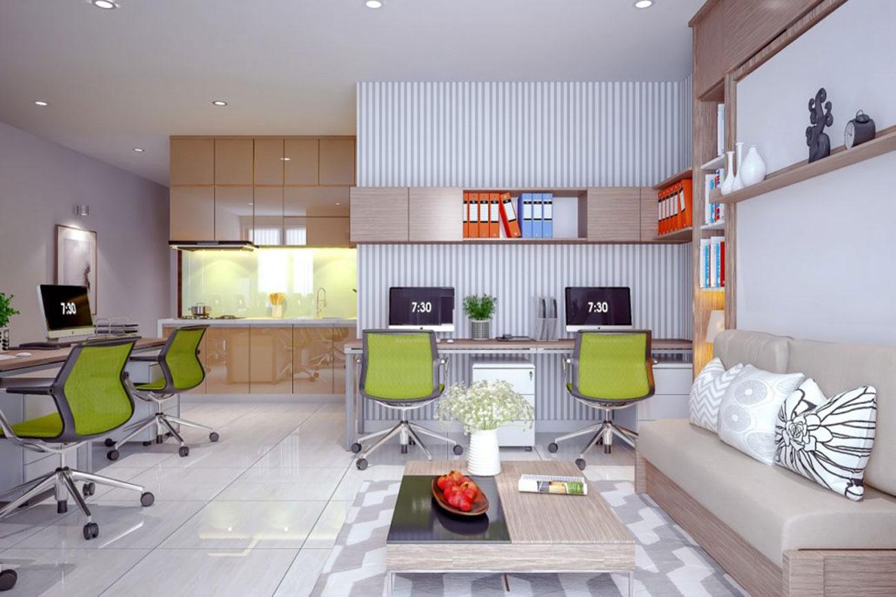 Nhà mẫu các văn phỏng Officetel Charmington Tân Sơn Nhất