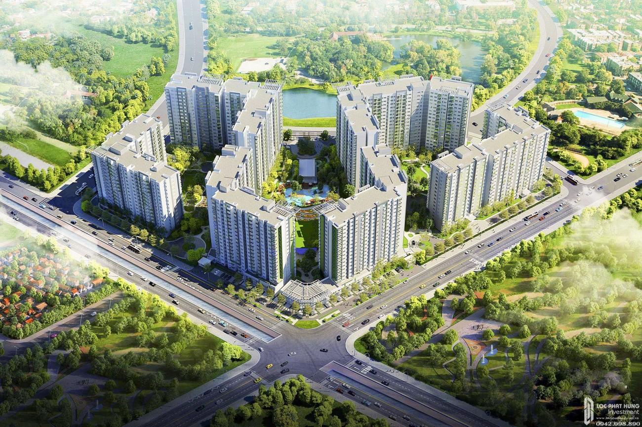 Phối cảnh tổng thể dự án căn hộ chung cư Milky Way Tân Bình Đường M1 chủ đầu tư Tanimex