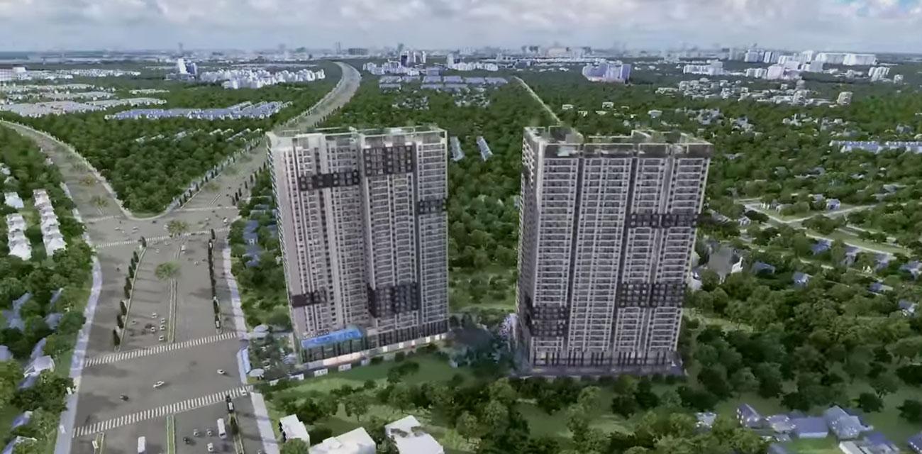 Phối cảnh tổng thể dự án Căn Hộ chung cư Thuận An Đường Quốc lộ 13 chủ đầu tư Đất Xanh Group