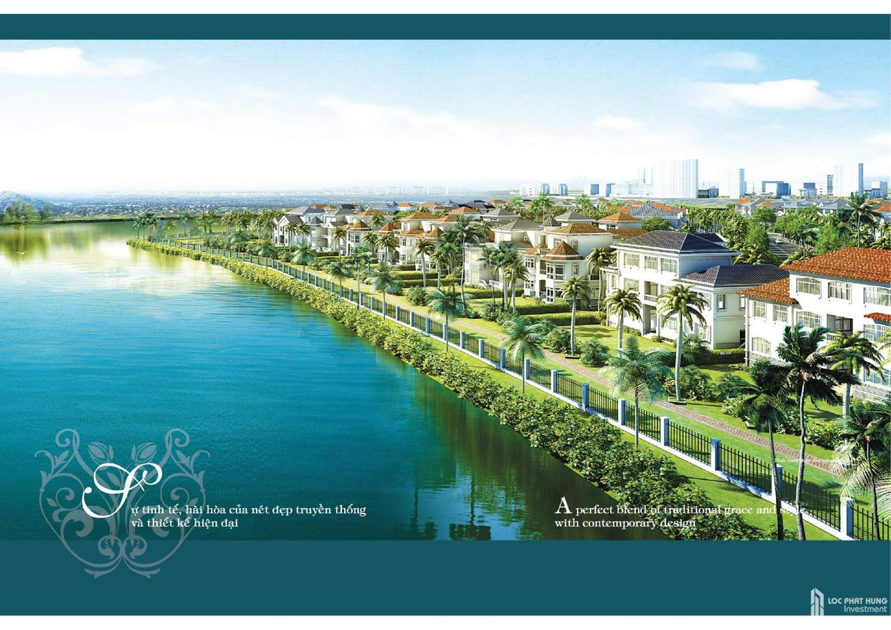 Phối cảnh tổng thể dự án Biệt Thự nhà phố Hồng Thịnh Phú Mỹ Hưng Quận 7 Đường Huỳnh Tấn Phát chủ đầu tư Phú Mỹ Hưng