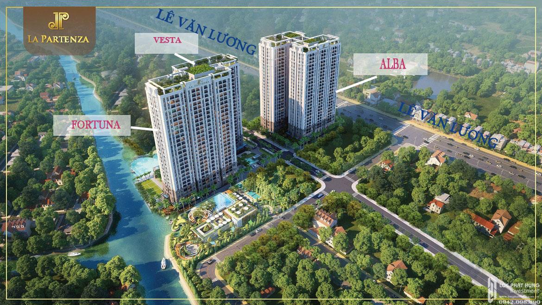 Phối cảnh dự án căn hộ chung cư La Partenza Nhà Bè Đường Lê Văn Lương chủ đầu tư Khải Minh Land