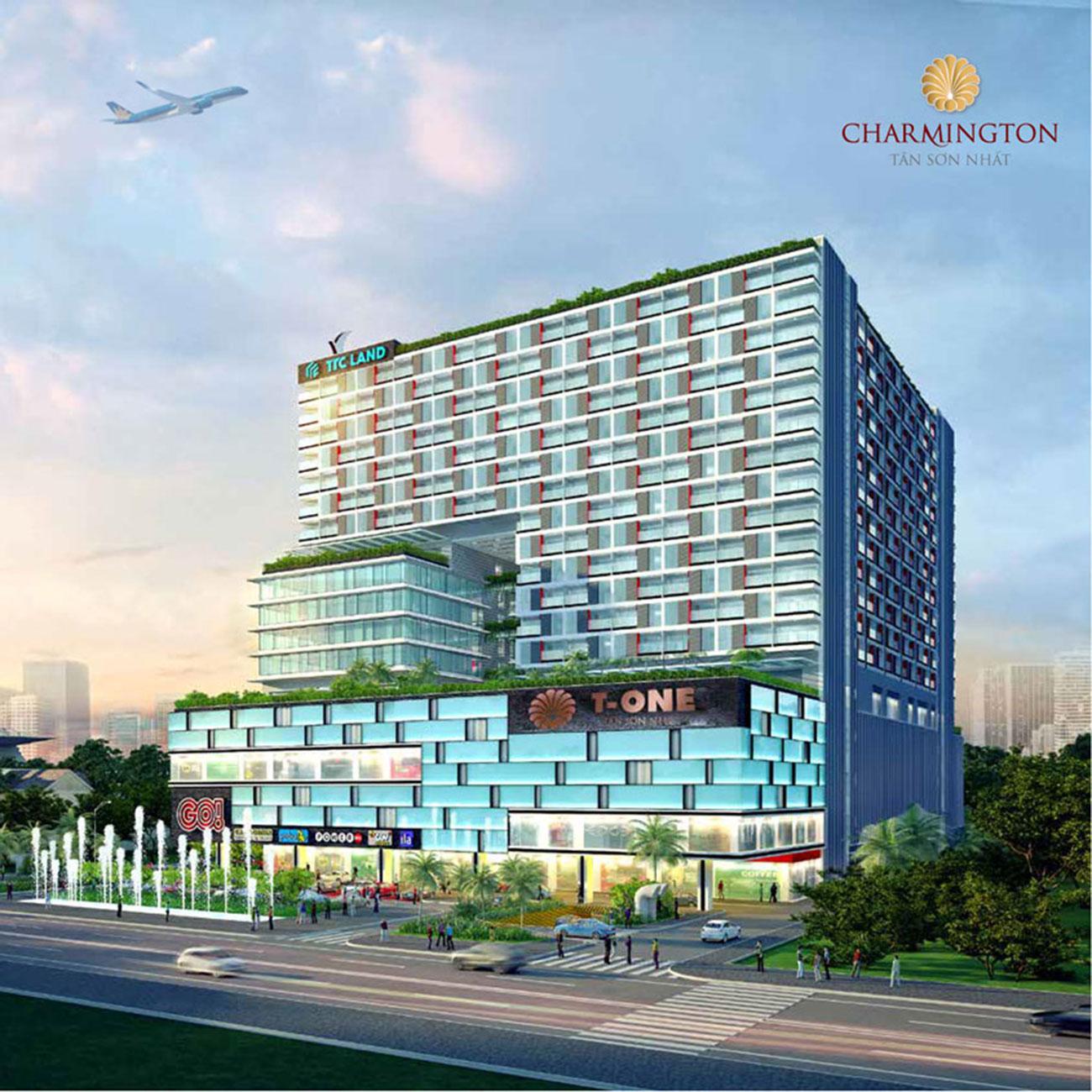Phối cảnh tổng thể dự án Officetel Charmington Tan Son Nhat Phú Nhuận