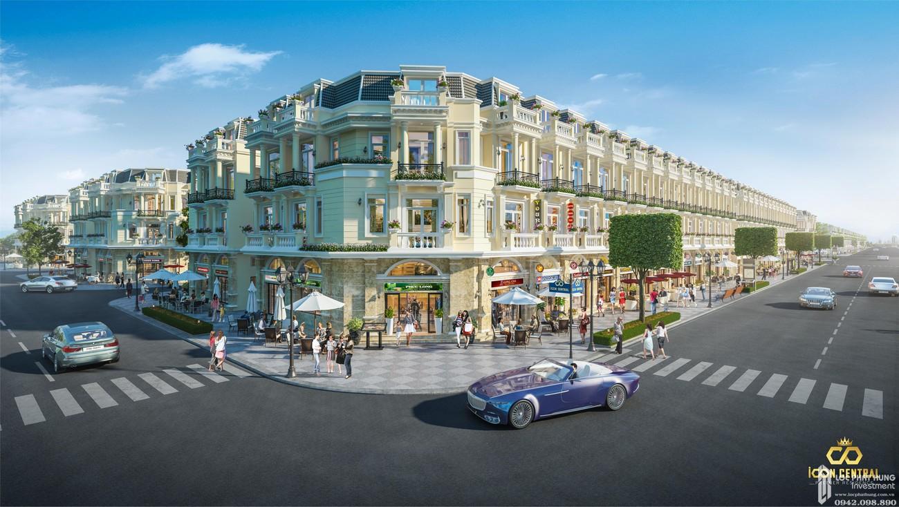 Phối cảnh dự án đất nền nhà phố Icon Central Dĩ An Bình Dương chủ đầu tư Phú Hồng Thịnh