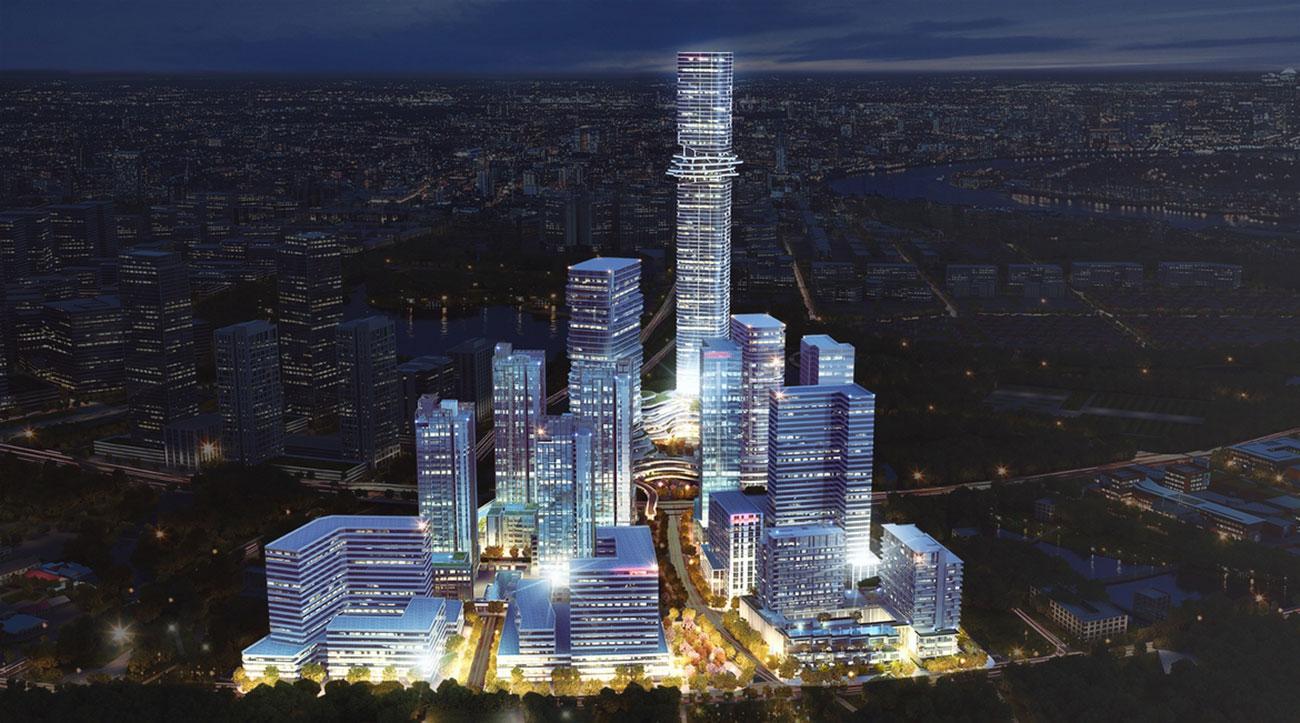 Phối cảnh tổng thể dự án căn hộ chung cư Empire City Quận 2