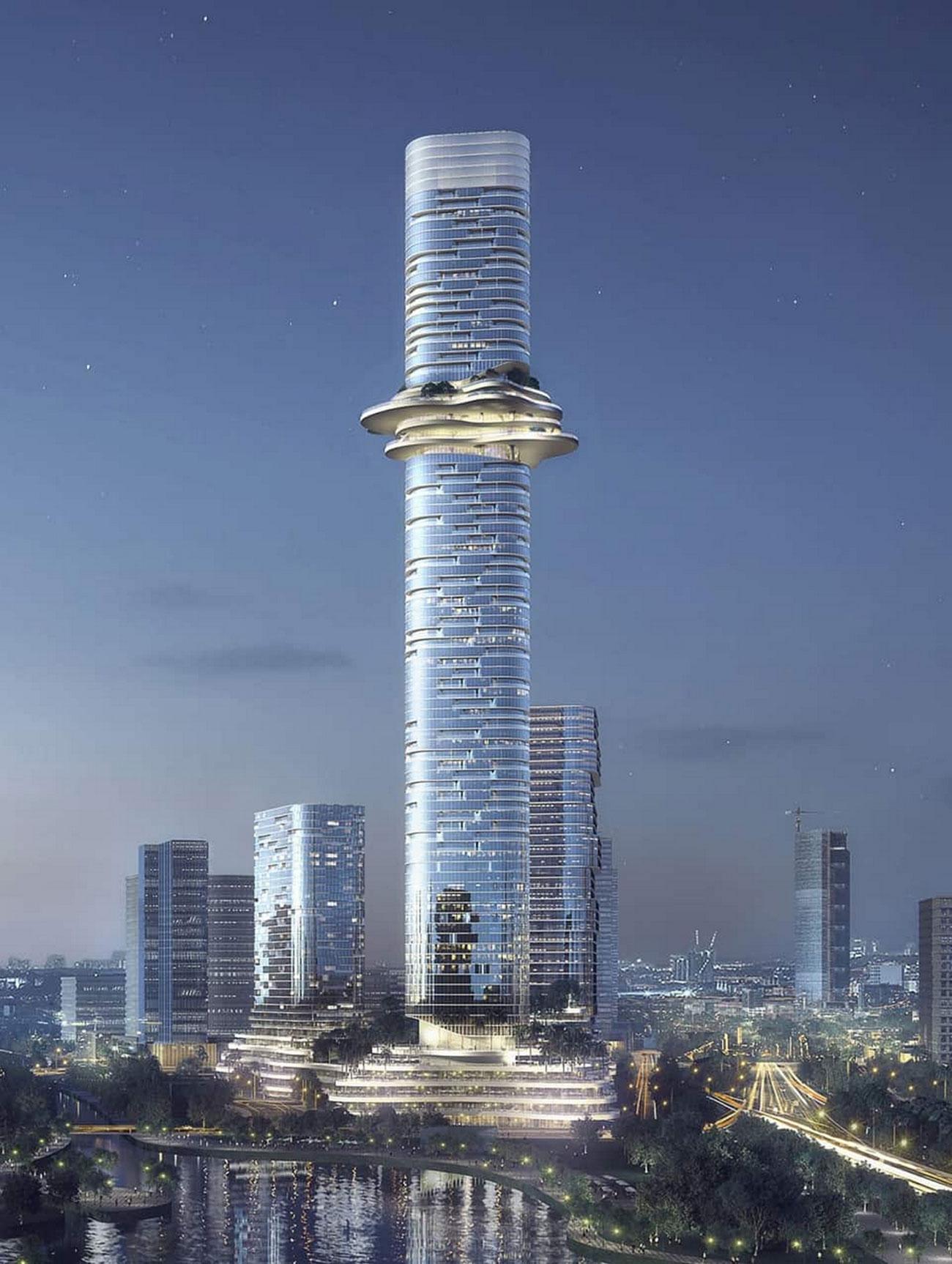 Tòa Empire Tower 88 sẽ trở thành tòa nhà cao nhất Việt Nam sau khi hoàn thành