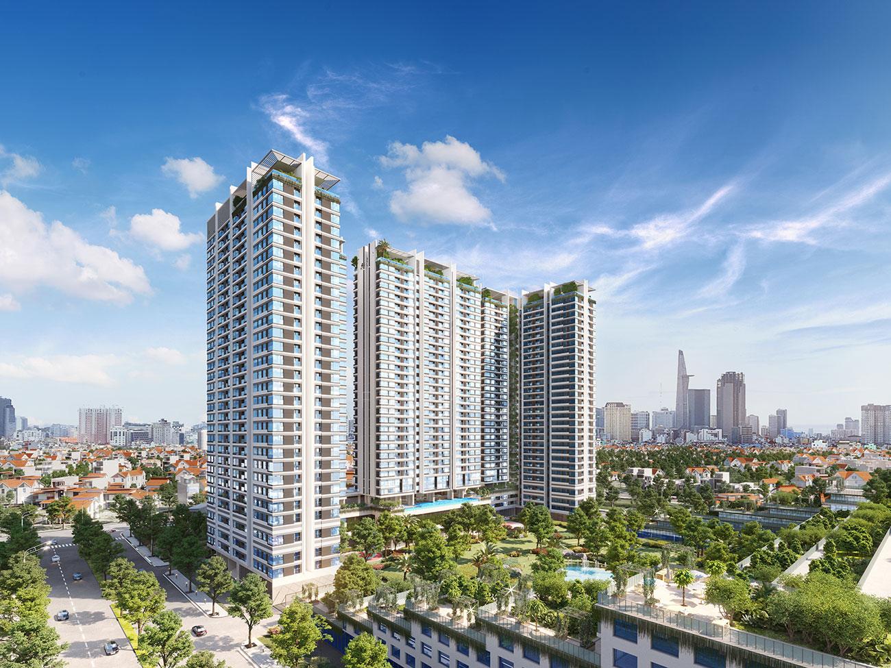 Phối cảnh tổng thể dự án căn hộ Kingdom 101 Thành Thái