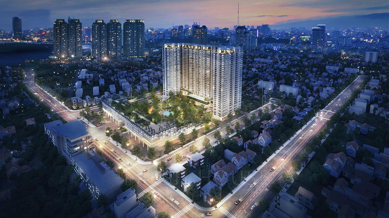 Phối cảnh tổng thể dự án căn hộ Kingdom 101
