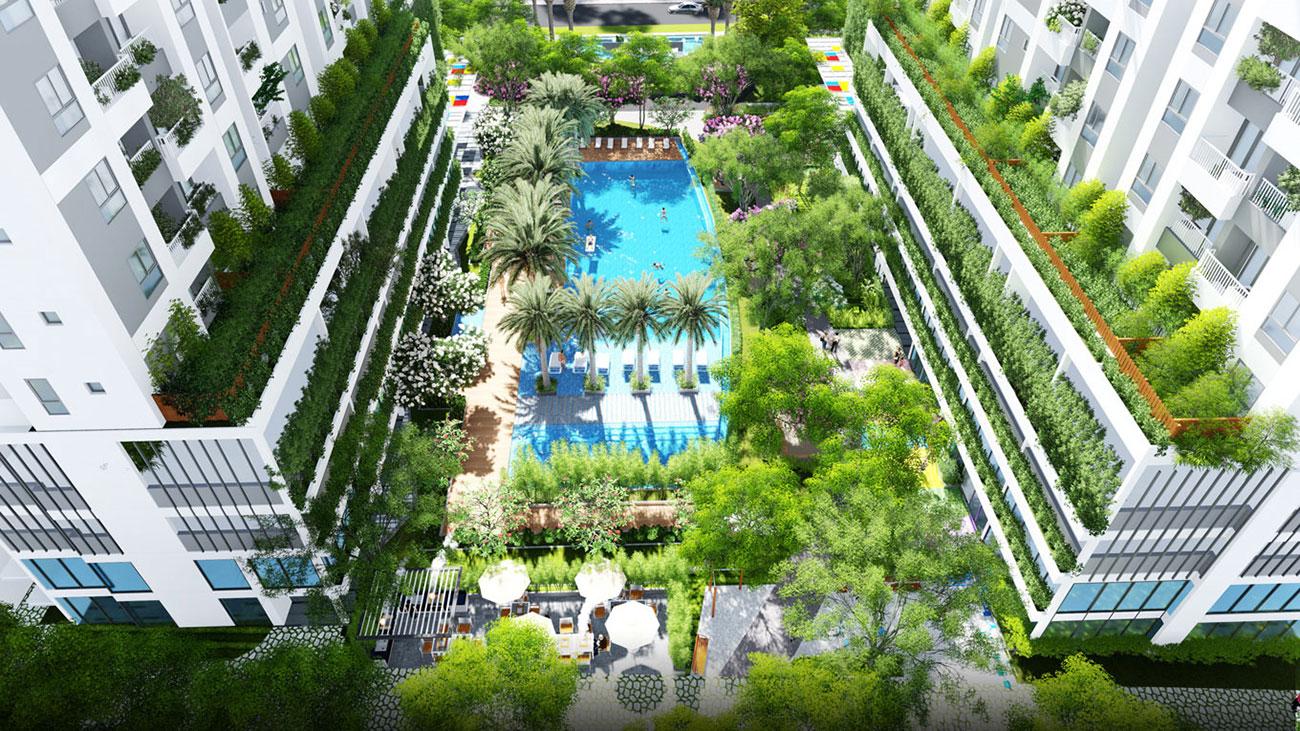 Phối cảnh tổng thể dự án căn hộ Lux Stay Quận 7