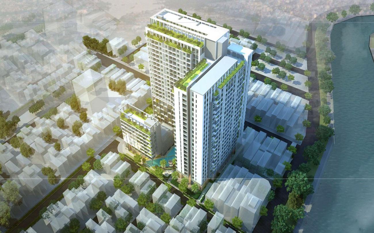 Phối cảnh tổng thể dự án Phú Đông Central Quận 1
