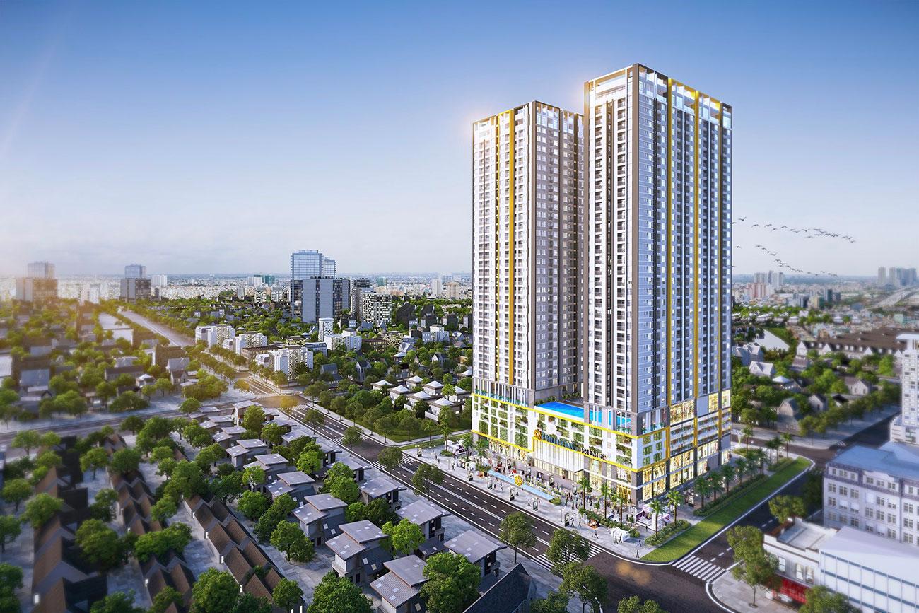Phối cảnh tổng thể dự án căn hộ Phú Đông Sky Garden Bình Dương