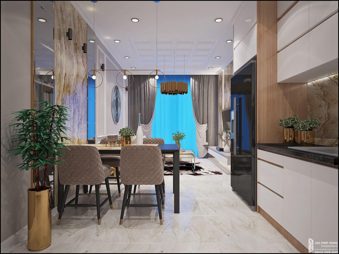 Phòng bếp Căn Hộ 3PN chung cư Bcons Miền Đông Dĩ An Đường Tân Lập chủ đầu tư Bcons