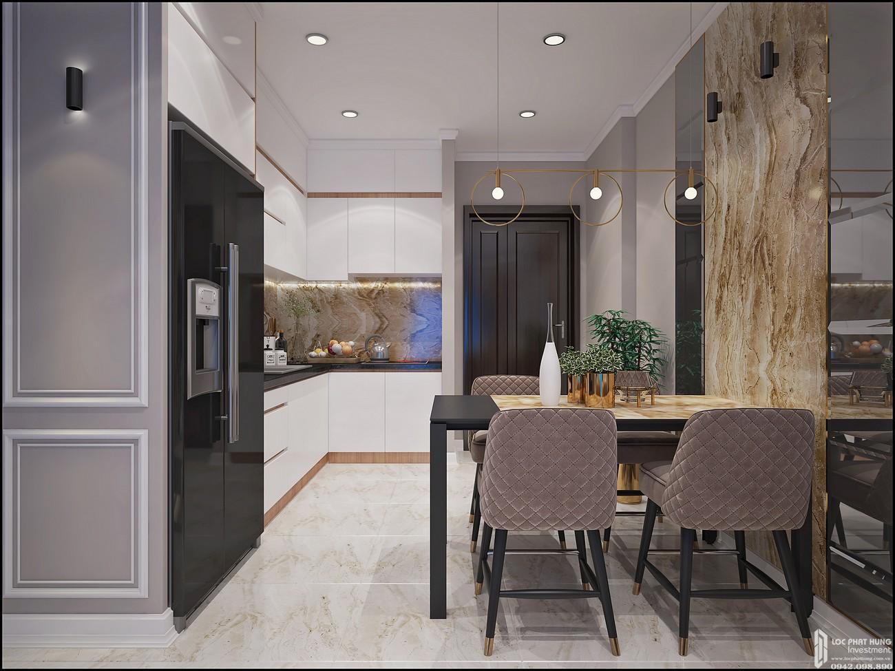 Phòng bếp dự án Căn Hộ chung cư Bcons Miền Đông Dĩ An Đường Tân Lập chủ đầu tư Bcons