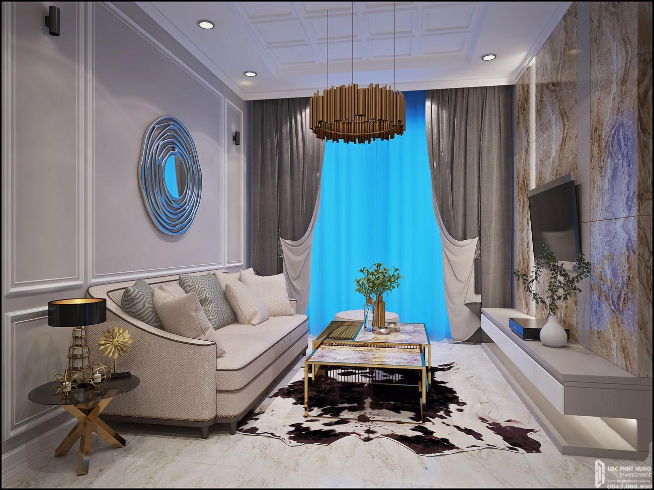 Phòng khách Căn Hộ 3PN chung cư Bcons Miền Đông Dĩ An Đường Tân Lập chủ đầu tư Bcons