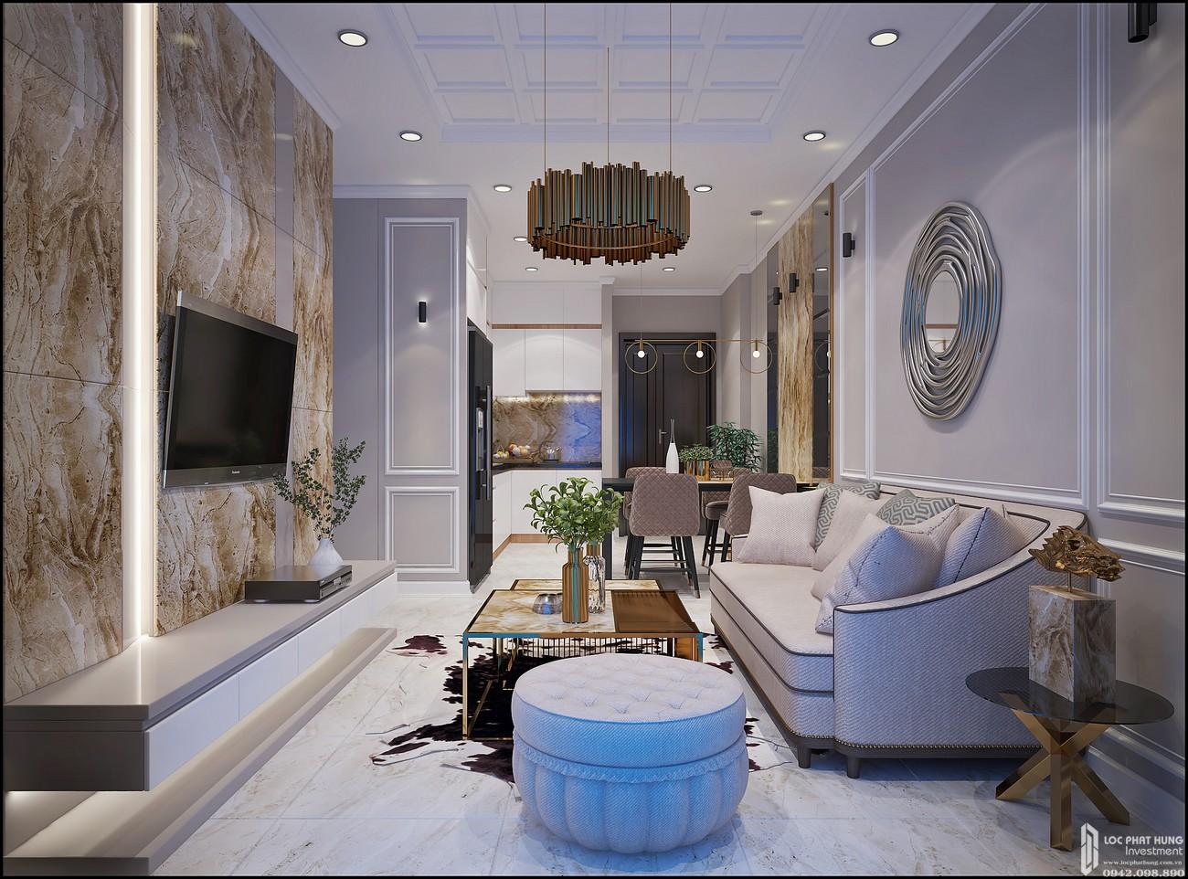 Phòng khách dự án Căn Hộ chung cư Bcons Miền Đông Dĩ An Đường Tân Lập chủ đầu tư Bcons