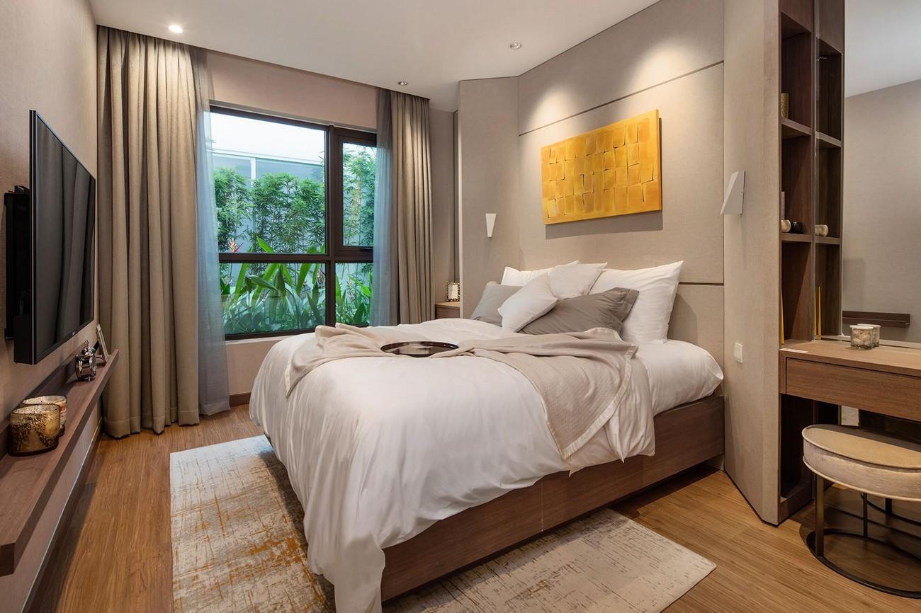 Phòng ngủ tại dự án căn hộ Hà Đô Green Lane