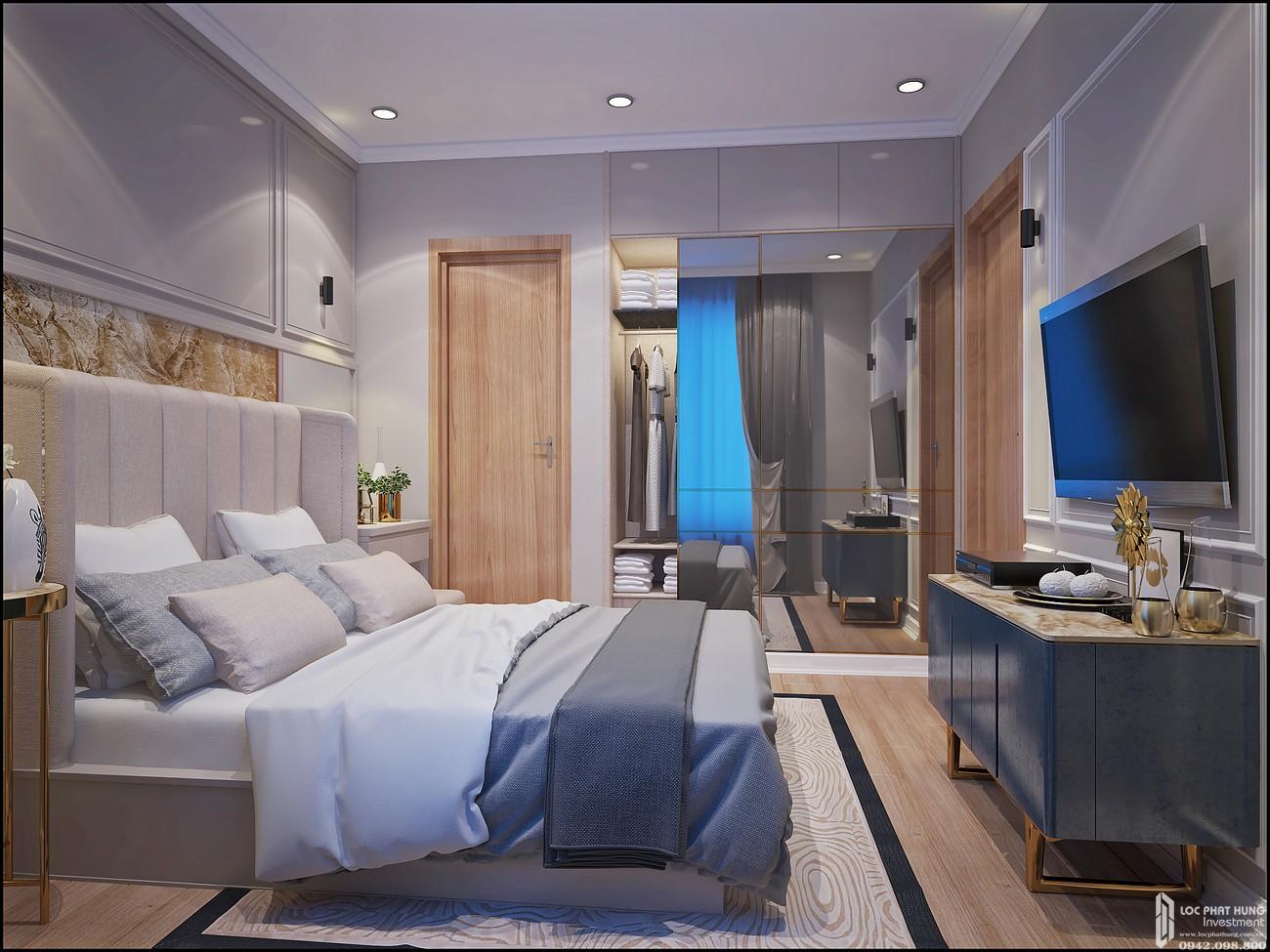 Phòng ngủ master Căn Hộ 3PN chung cư Bcons Miền Đông Dĩ An Đường Tân Lập chủ đầu tư Bcons