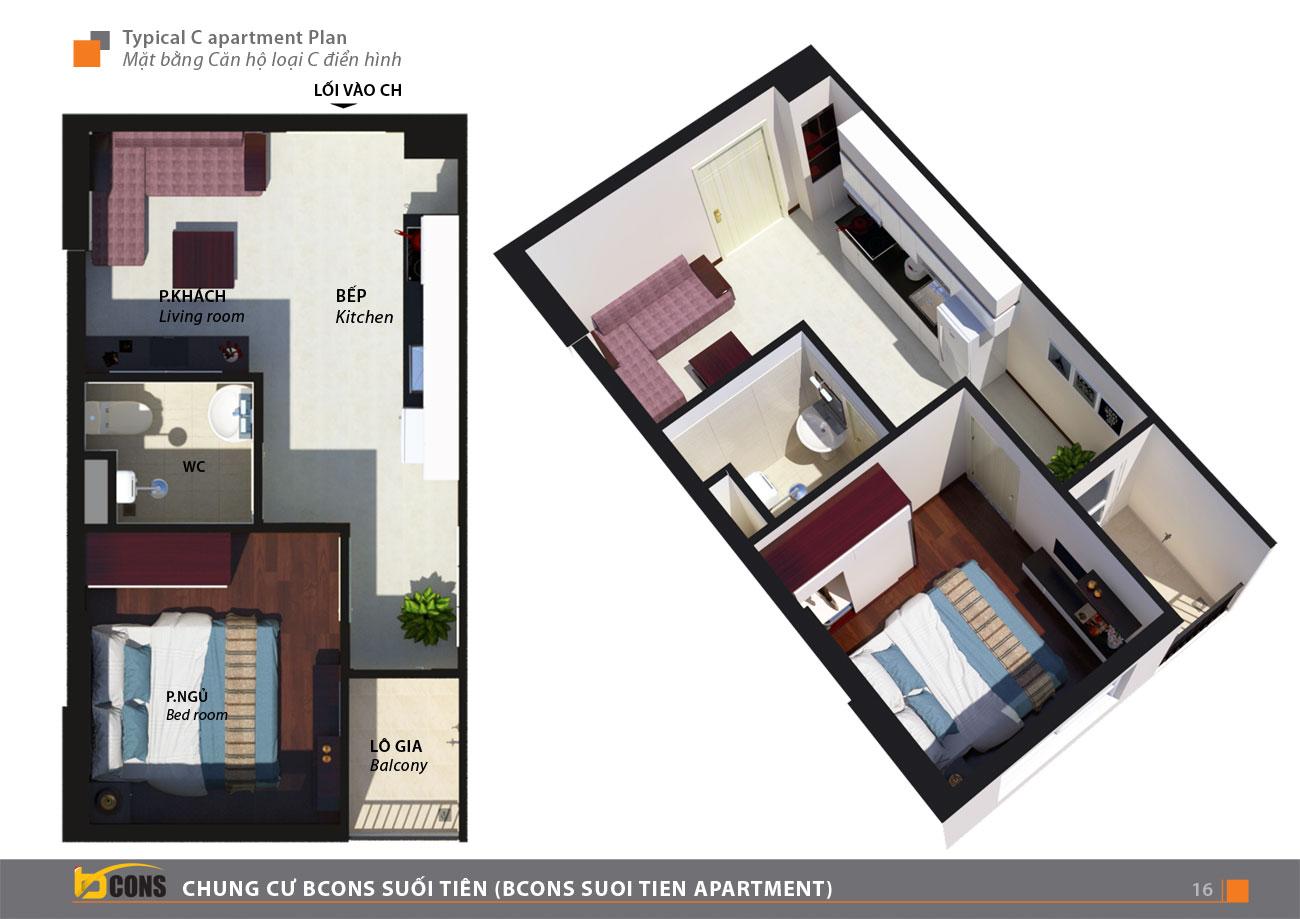 Thiết kế dự án căn hộ chung cư Bcons Suối Tiên Dĩ An Đường Tân Lập chủ đầu tư Bcons