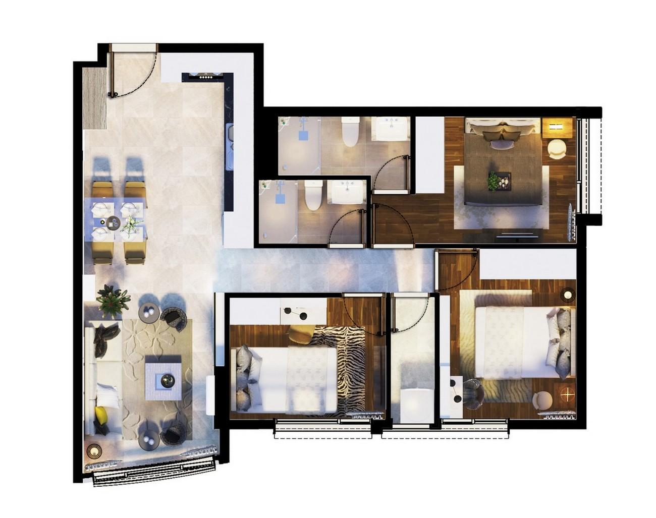 Thiết kế dự án căn hộ chung cư Summer Square Quận 6 Đường Tân Hòa Đông chủ đầu tư Gotec Land