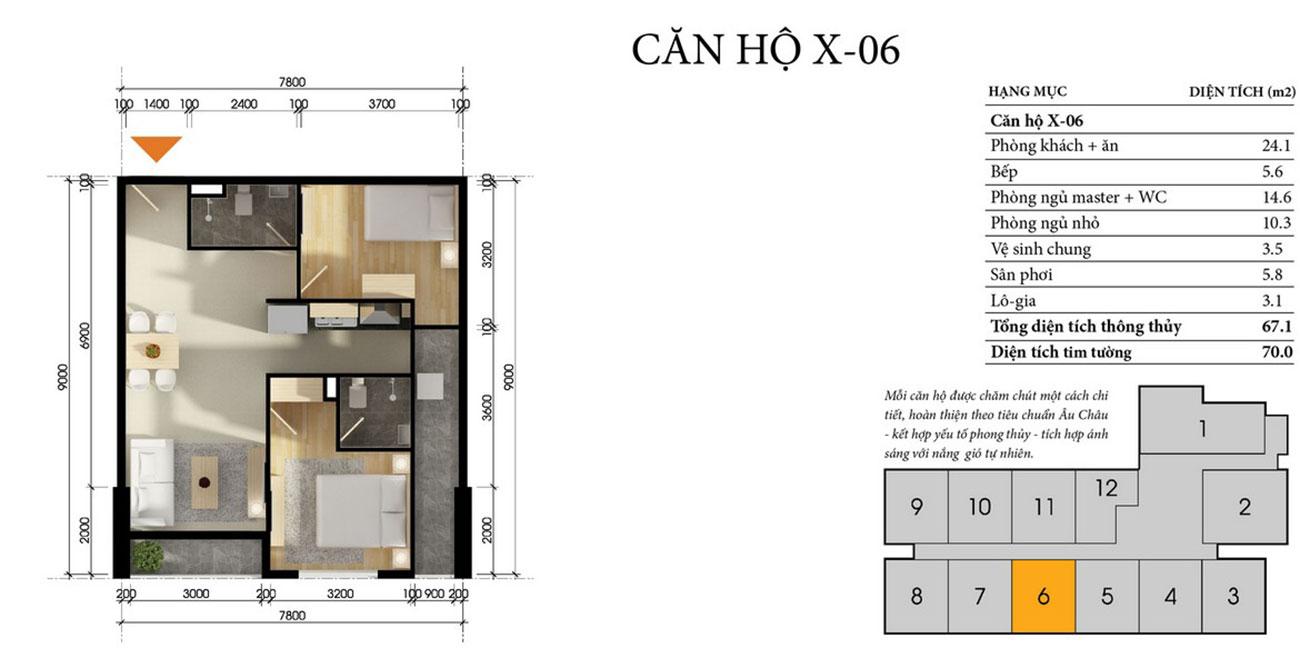 Thiết kế chi tiết căn hộ D Vela