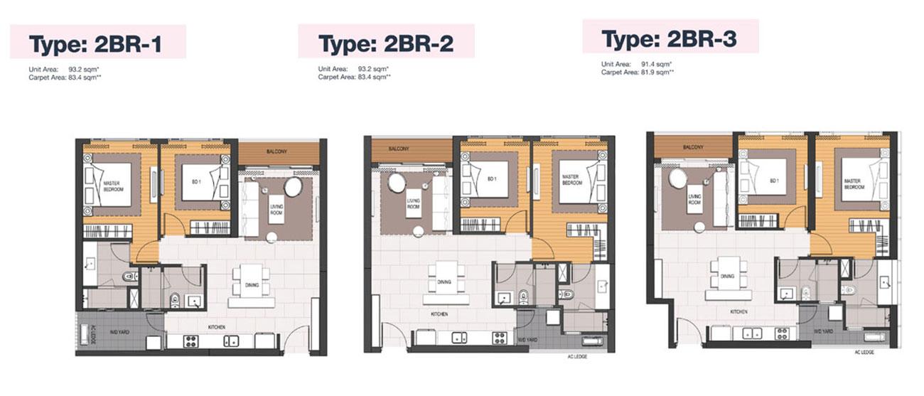Thiết kế căn hộ 2 Phòng ngủ điển hình Empire City.