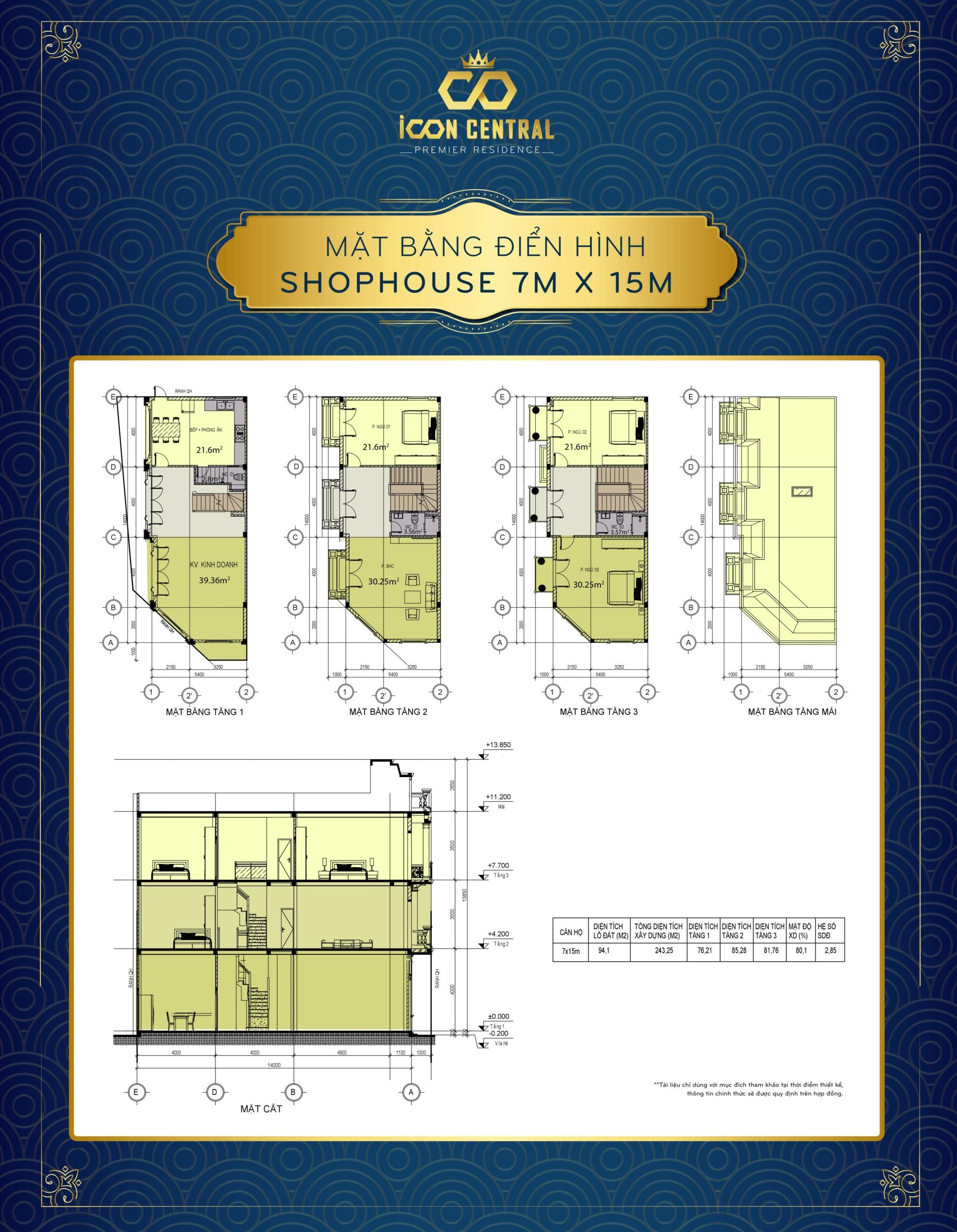 Thiết kế dự án đất nền nhà phố Icon Central Dĩ An Bình Dương chủ đầu tư Phú Hồng Thịnh