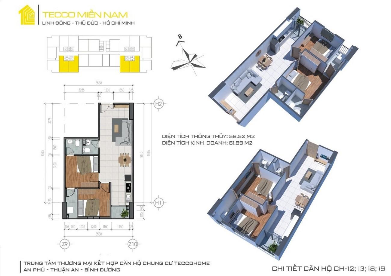 Thiết kế dự án căn hộ Tecco Home An Phú Bình Dương