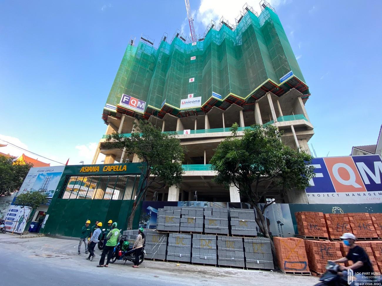 Tiến độ xây dựng dự án Asiana Capella Quận 6 tháng 02/2020