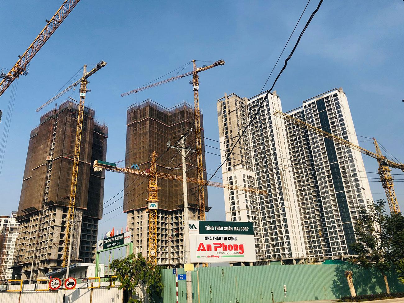 Tiến độ xây dựng dự án Eco Green Sài Gòn