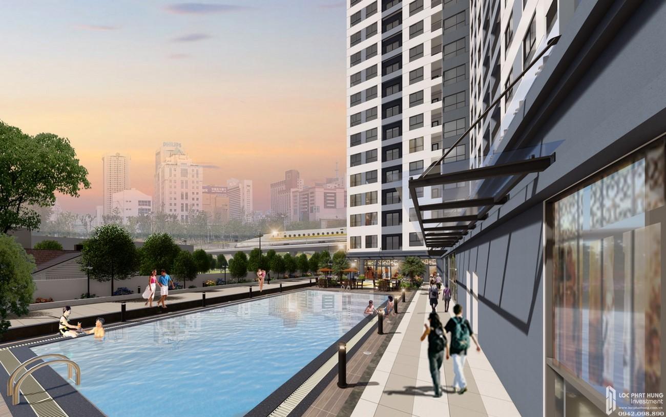 Hồ bơi Căn Hộ chung cư Bcons Miền Đông Dĩ An Đường Tân Lập chủ đầu tư Bcons